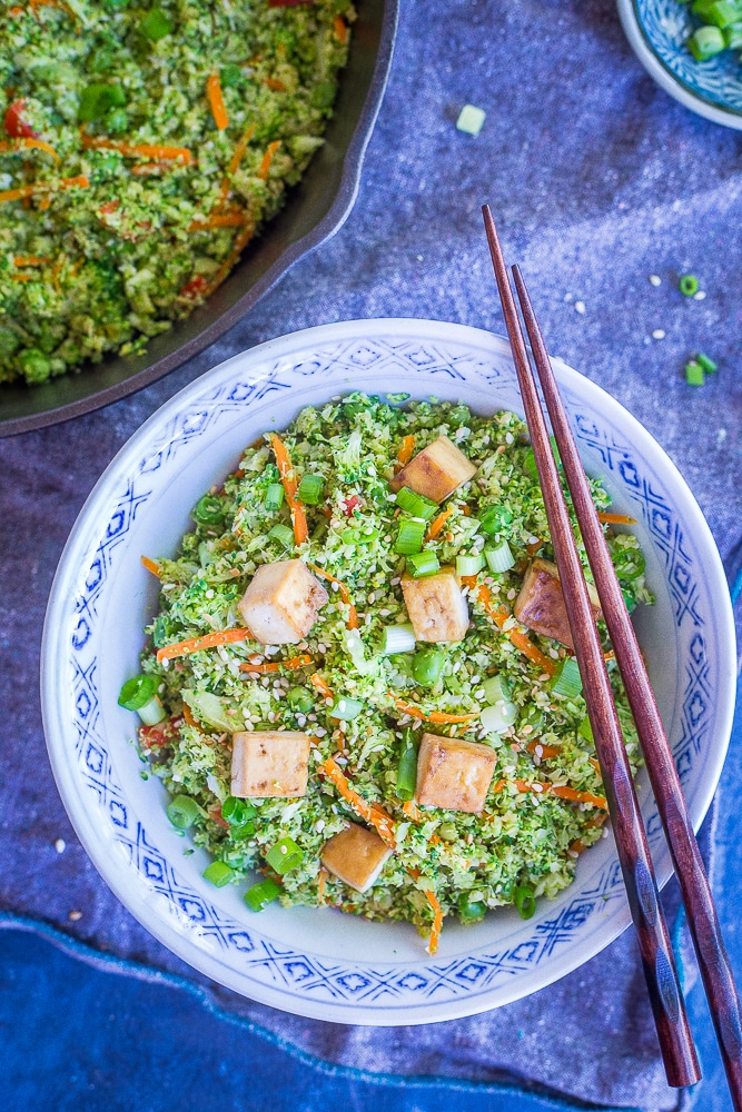 "Easy Broccoli Fried ""Rice"" from She Likes Food"
