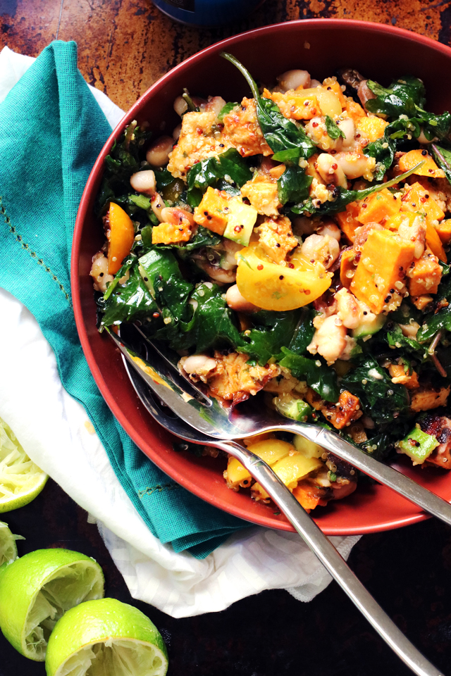 Honey Chipotle Roasted Tofu and Sweet Potato Bowls from Eats Well With Others