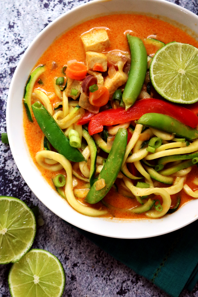 Thai Tofu Zoodle Soup from Eats Well With Others
