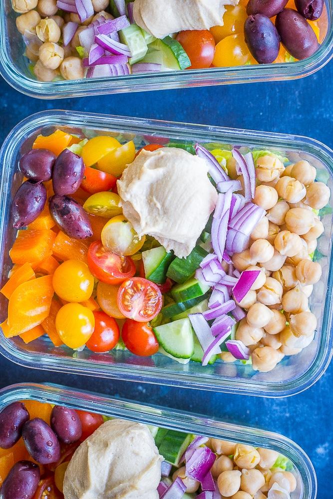 Easy Greek Salad Bowlsfrom She Likes Food