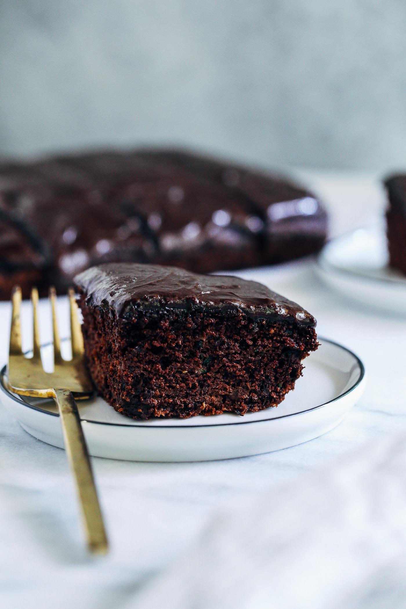 Vegan Chocolate Zucchini Snack Cake Making Thyme For Health