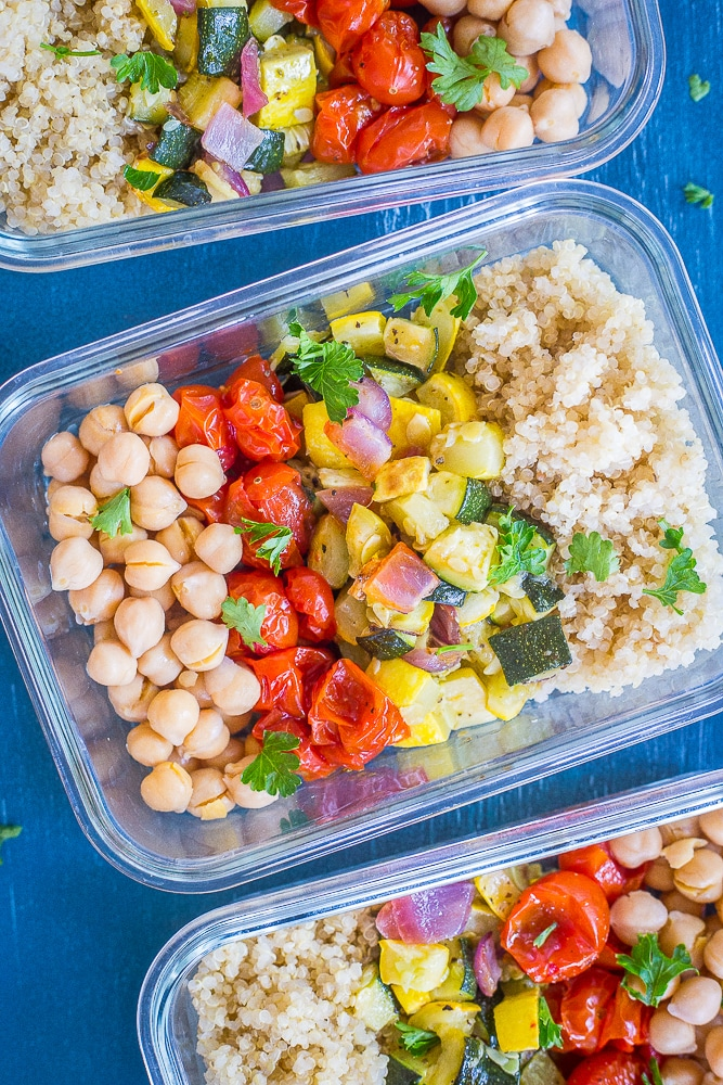 Roasted Summer Vegetable Bowls from She Likes Food