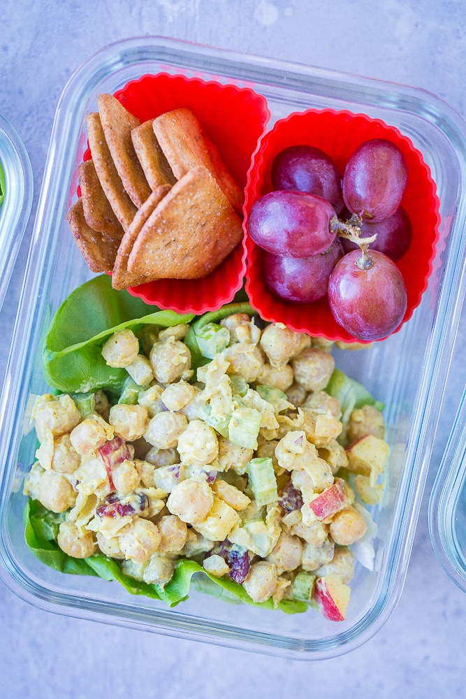 Curried Chickpea Salad from She Likes Food