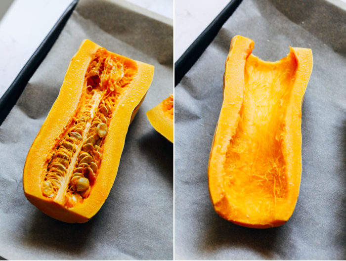 Roasted Maple Dijon Delicata Squash- a simple and flavorful side item that's easy enough for every day yet sophisticated enough for the holidays!