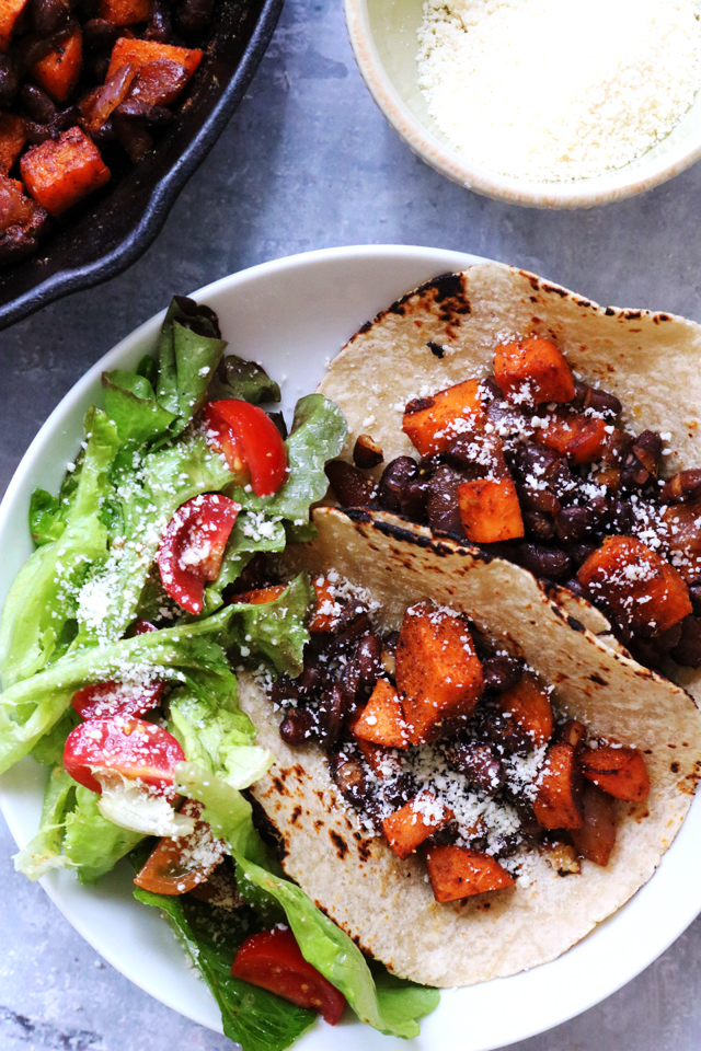 Sweet Potato and Black Bean Tacos from Eats Well With Others