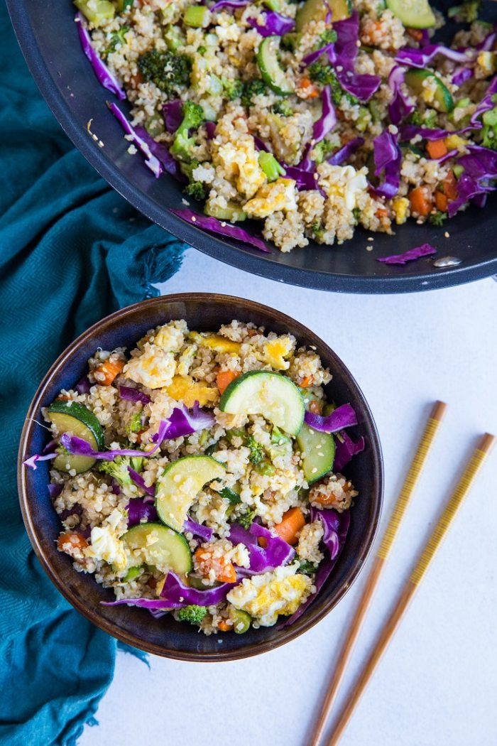 """Quinoa Vegetable Fried """"Rice"""" from The Roasted Root"""