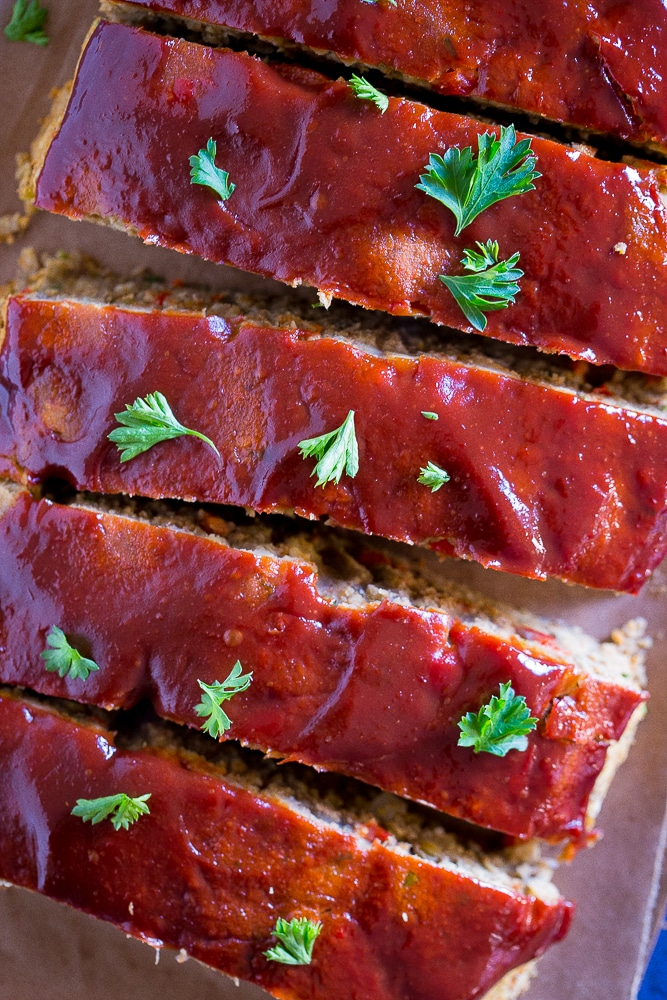 Easy Vegan Meatloaf with Lentils and Chickpeas from She Likes Food