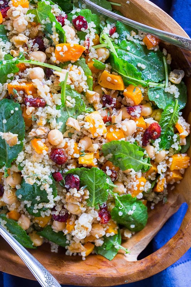 Winter Quiona Salad with Butternut Squash from She Likes Food