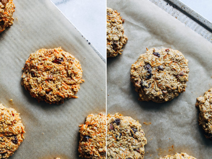 Morning Glory Breakfast Cookies- made with whole grain oatmeal, these breakfast cookies that are packed with flavors of a classic Morning Glory muffin! (vegan, gluten-free)