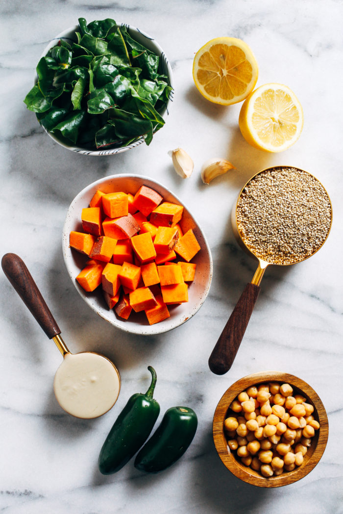 Simple and nutrient-dense, these Buddha Bowls are healthy enough to prep for lunches yet beautiful enough to serve for dinner.(vegan, plant-based, gluten-free)