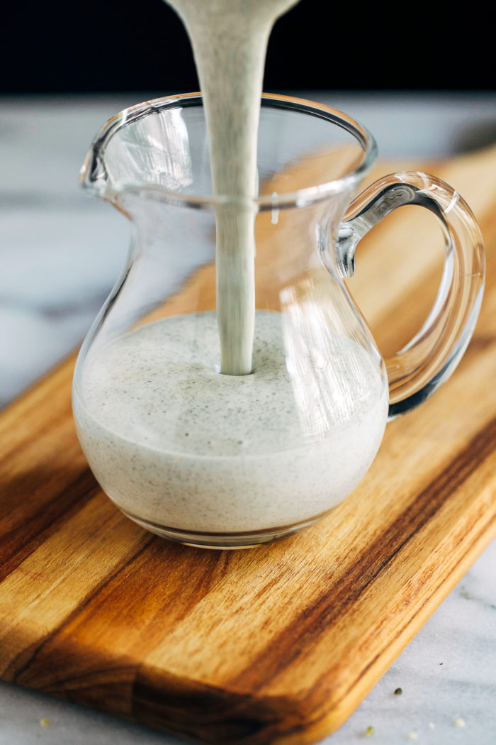 Hemp Ranch Dressing- a simple, dairy-free version of ranch made with just 6 ingredients! (vegan + nut-free)