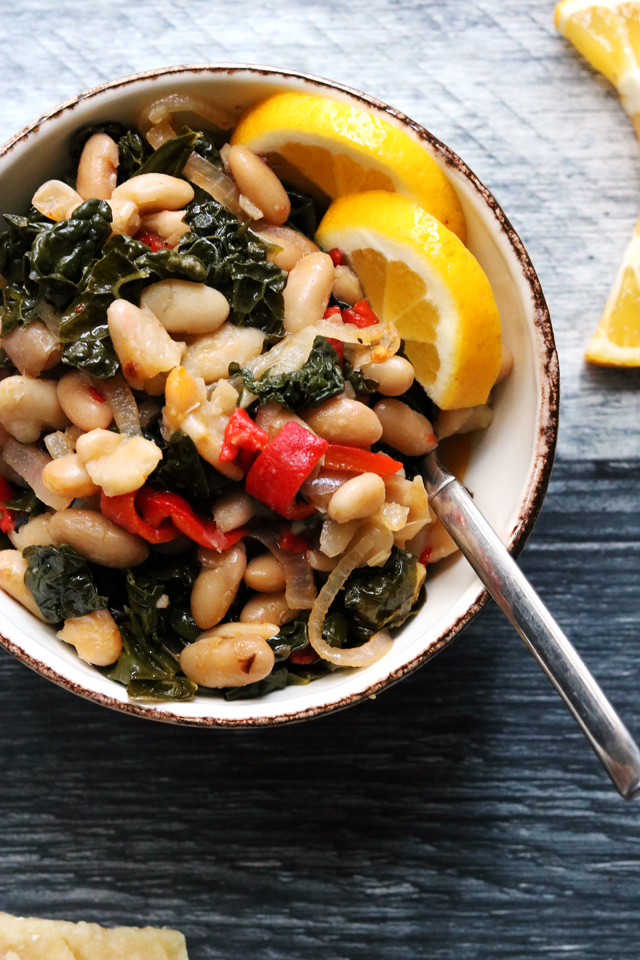 Cannellini Bean Salad with Roasted Red Pepper and Kale from Eats Well With Others