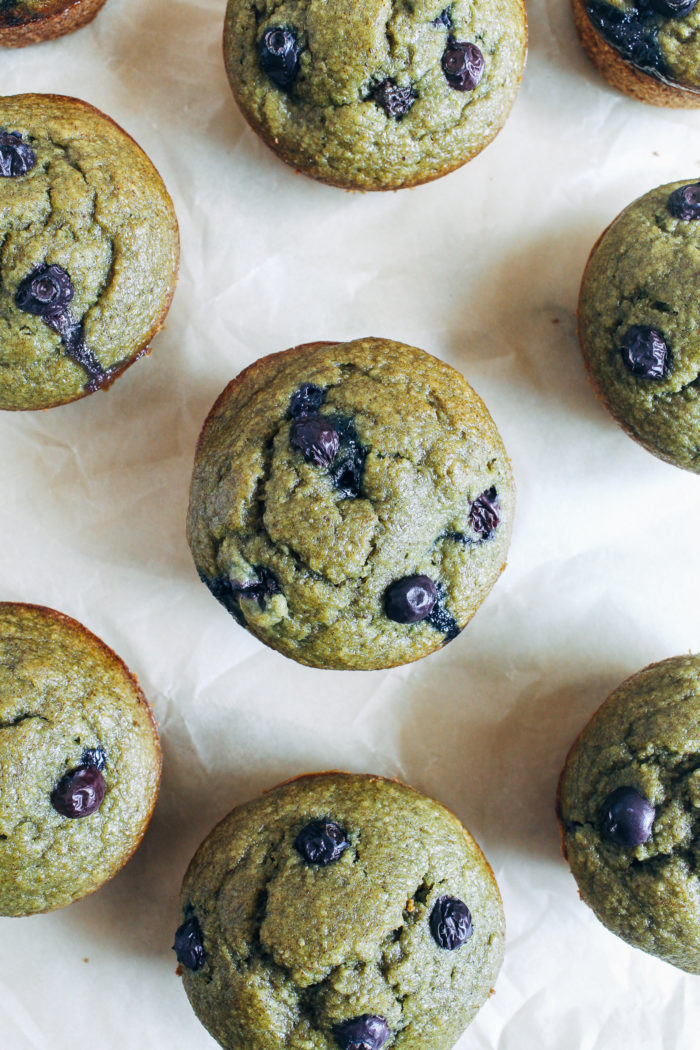 Healthy Green Monster Muffins- made with a secret green ingredient, these muffins are dairy-free, oil-free, gluten-free and refined sugar-free!