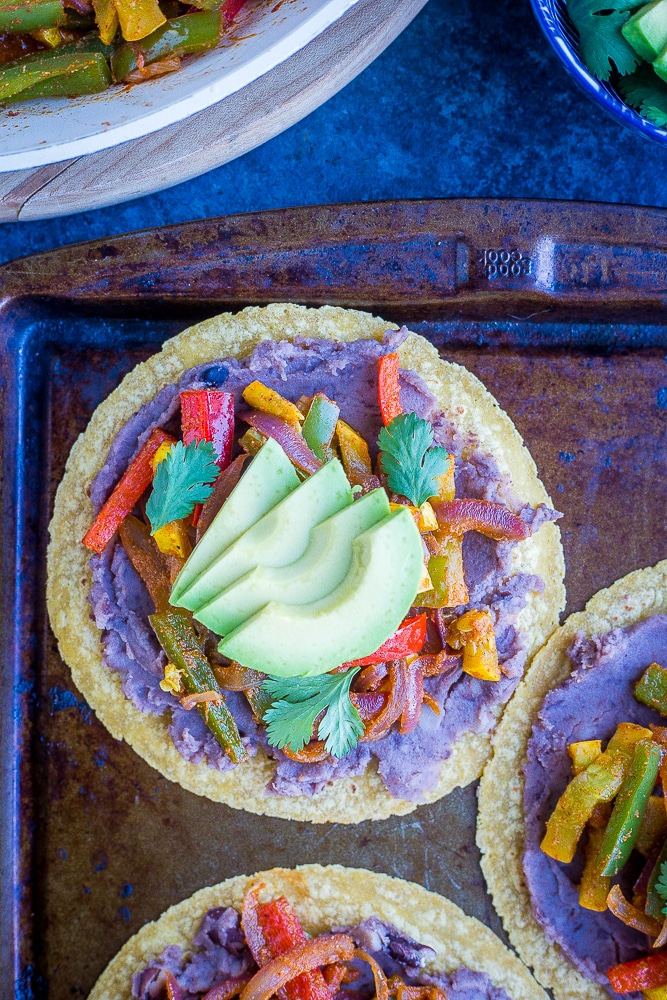Fajita Tostadas from She Likes Food