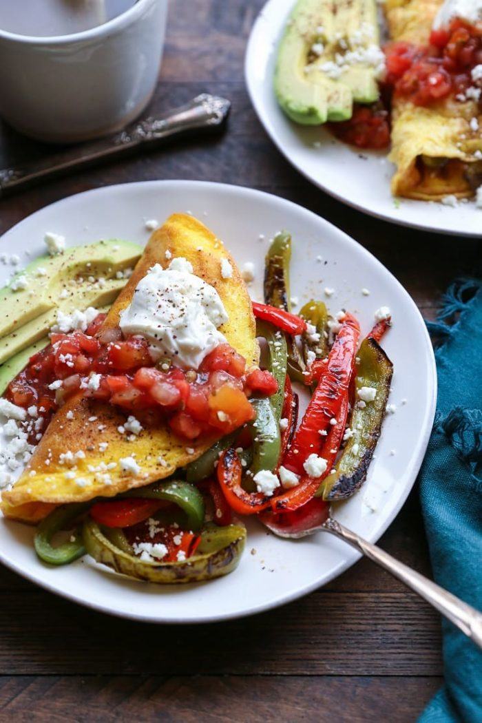 Fajita Omelettes from The Roasted Root