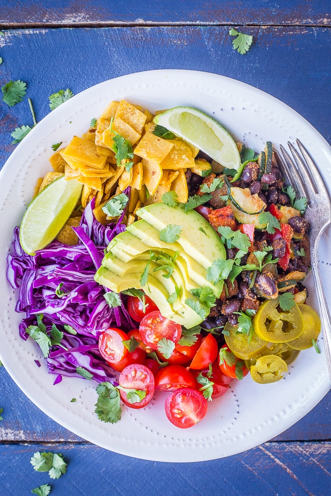 Vegan Taco Bowls from She Likes Food