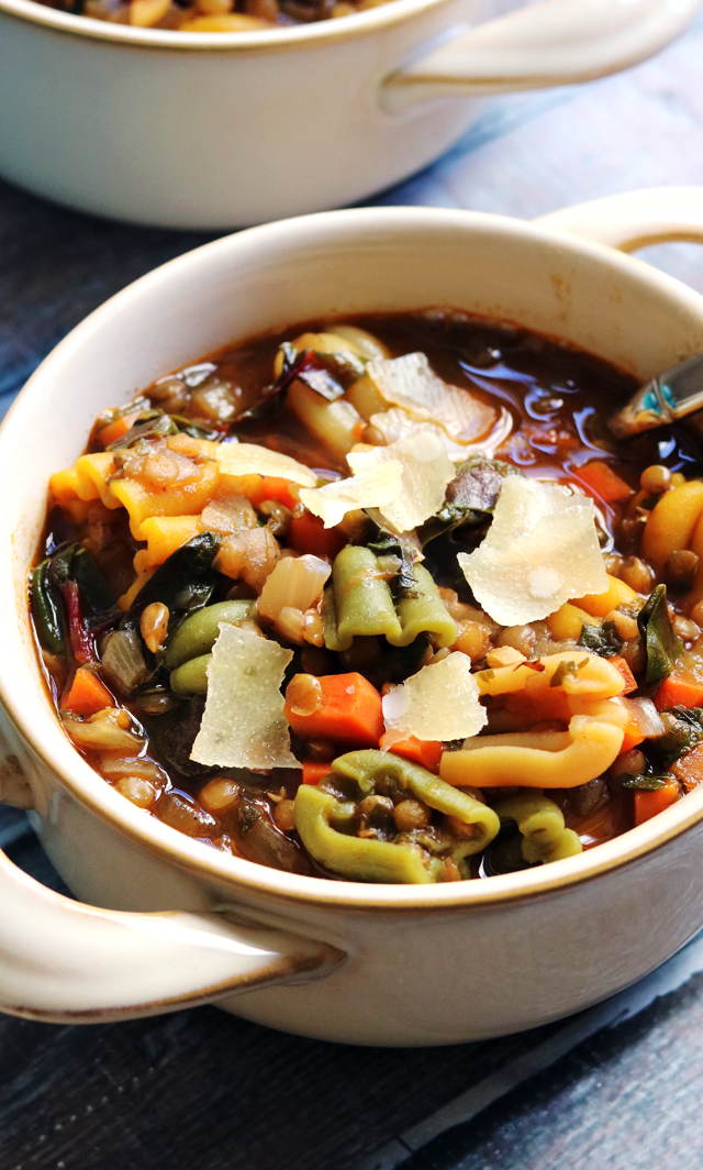 Vegetarian Lentil Minestrone from Eats Well With Others
