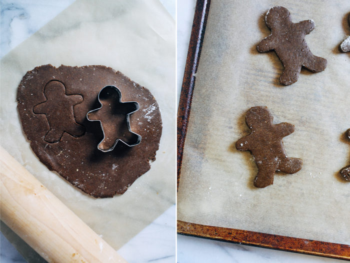 Vegan Gluten-free Gingerbread Men- made with wholesome oat flour, these gingerbread men are perfectly soft and chewy. No one will every guess they're vegan and gluten-free!