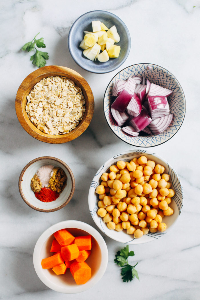 Moroccan Chickpea 'Meatballs'- packed full of flavor and protein, this creative plant-based meal will keep you coming back for more! (gluten-free)